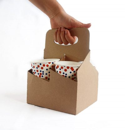 Porta vasos de  Cartón 4 Cavidades