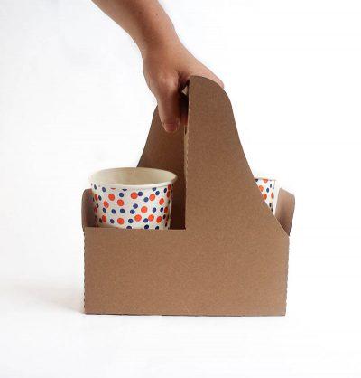 Porta vasos de  Cartón 2 Cavidades