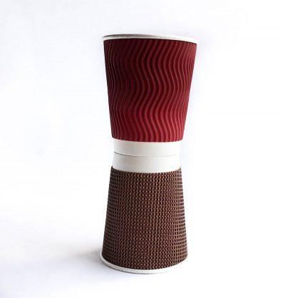 Vaso desechable bebida caliente 8 onz Corrugado