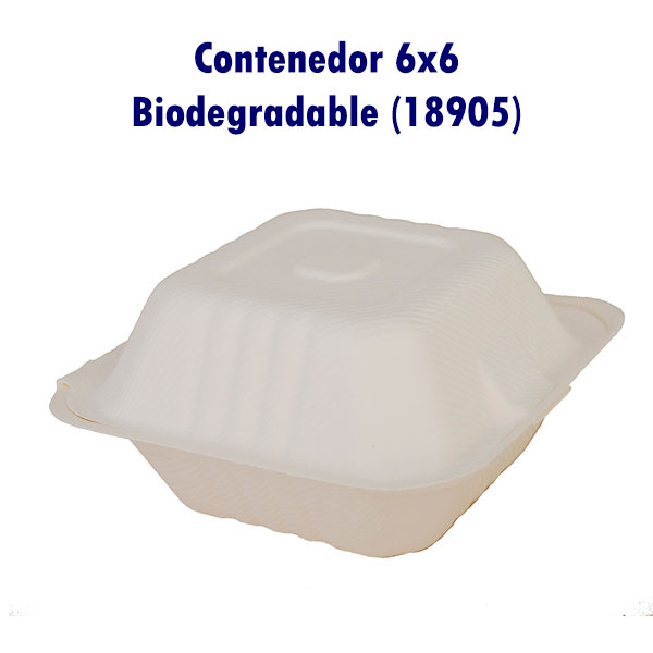 Contenedor 6x6 Biodegradable (18905)
