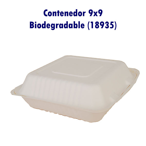 Contenedor 9x9 Biodegradable (18935)